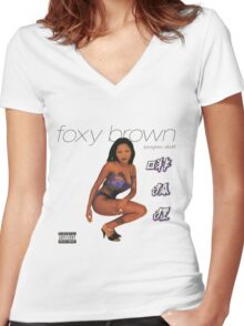Foxy Brown Chyna Doll Women's Fitted V-Neck T-Shirt