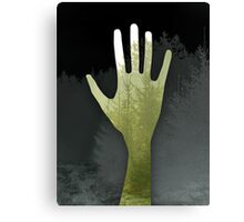 Hand of The Forest and Trees (green) Canvas Print