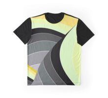Curves in Gray and Yellow Graphic T-Shirt