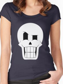 Simplistic Papyrus Women's Fitted Scoop T-Shirt