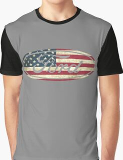 Ford American Flag Graphic T-Shirt