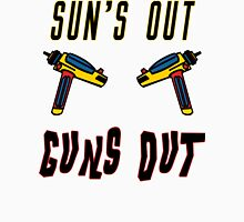 Sun's out, guns out! Women's Fitted V-Neck T-Shirt