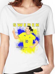 ZLATAN IBRAHIMOVIC SWEDEN, EURO 2016 Women's Relaxed Fit T-Shirt