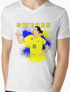 ZLATAN IBRAHIMOVIC SWEDEN, EURO 2016 Mens V-Neck T-Shirt