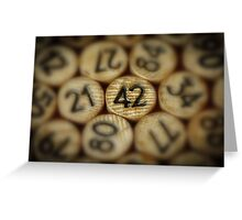 And the answer is.........42 Greeting Card
