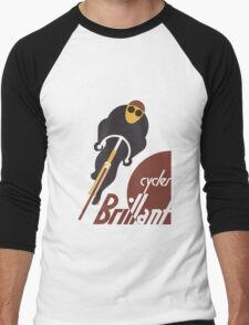 Retro vintage cycles Brillant advertising Men's Baseball ¾ T-Shirt