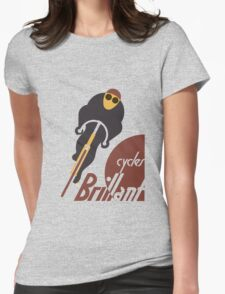 Retro vintage cycles Brillant advertising Womens Fitted T-Shirt