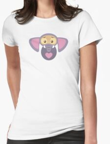 Stylized-Elephant-Finnick Womens Fitted T-Shirt