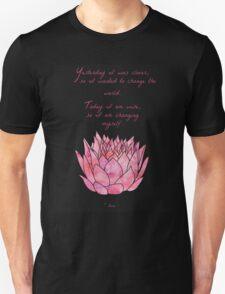 Lotus Flower - Rumi Quote - Inspirational  Unisex T-Shirt