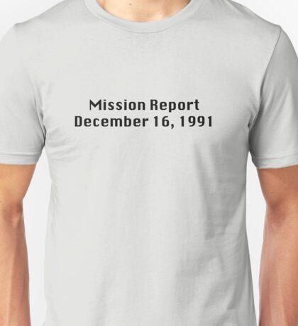 Mission Report December 16, 1991 Unisex T-Shirt