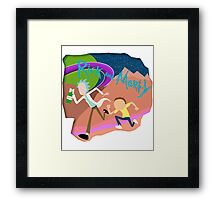 Rick and Morty Running  Framed Print