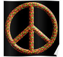 Colorful Peace Hippie 60'S 70'S Poster