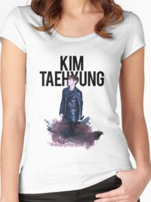 Kim Taehyung Water Color Women's Fitted Scoop T-Shirt