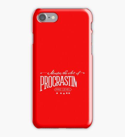 Master the Art of Procrastination / White iPhone Case/Skin