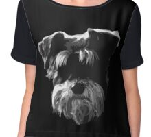 Little Schnauzer Chiffon Top
