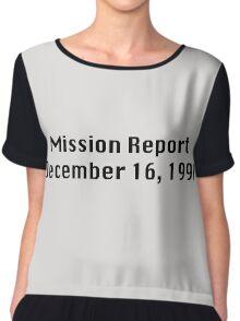 Mission Report December 16, 1991 Chiffon Top