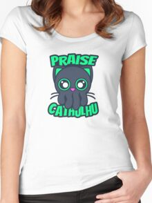 Praise Cathulhu Women's Fitted Scoop T-Shirt