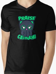 Praise Cathulhu Mens V-Neck T-Shirt