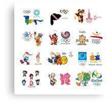 olimpic games mascots juegos olímpicos mascotas sports Canvas Print