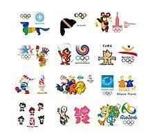 olimpic games mascots juegos olímpicos mascotas sports Photographic Print