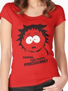 Too much pressure! Women's Fitted Scoop T-Shirt