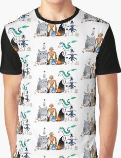 Ghibli Friends  Graphic T-Shirt