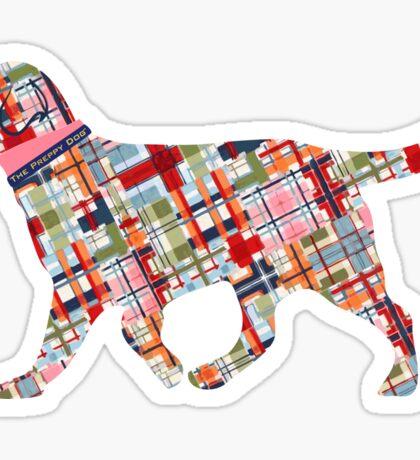Madras Preppy Retriever Dog Sticker