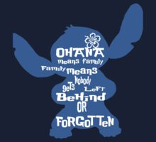Stitch Ohana means family Kids Tee