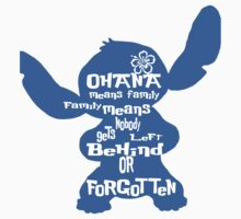 Stitch Ohana means family Baby Tee