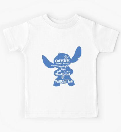 Stitch Ohana means family Kids Tee