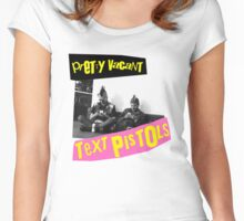 The Text Pistols - Pretty Vacant Women's Fitted Scoop T-Shirt