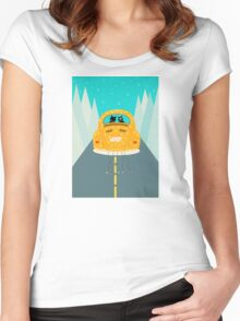 Just Married - Vintage Car Beetle - Cats Women's Fitted Scoop T-Shirt