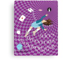 Alice's Adventures in Wonderland - illustrated by Sally Barnett Canvas Print