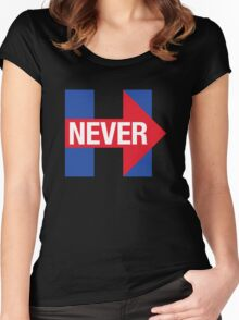 NEVER HILLARY Women's Fitted Scoop T-Shirt