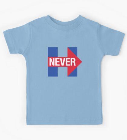 NEVER HILLARY Kids Tee