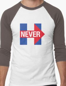 NEVER HILLARY Men's Baseball ¾ T-Shirt