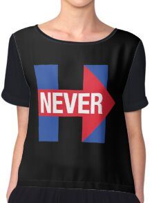 NEVER HILLARY Chiffon Top