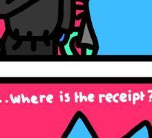 "Leon Karseen ""Where's the receipt""  Sticker"