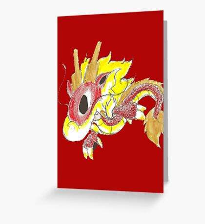 Playful Fire Hatchling Greeting Card