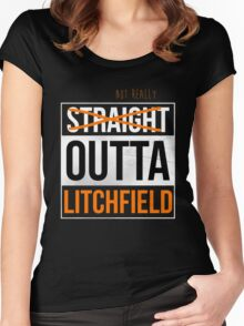 Straight Outta Litchfield | OITNB Women's Fitted Scoop T-Shirt