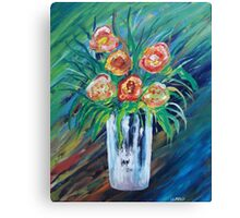 COOL FLORAL ABSTRACT Canvas Print