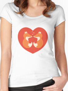 Lovers foxes. Women's Fitted Scoop T-Shirt