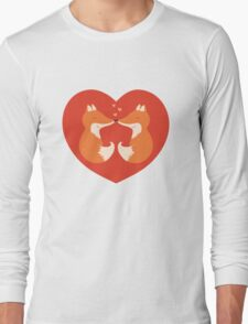 Lovers foxes. Long Sleeve T-Shirt