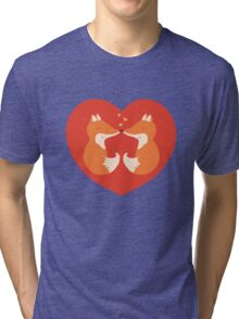 Lovers foxes. Tri-blend T-Shirt