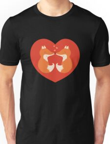 Lovers foxes. Unisex T-Shirt