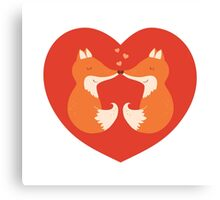 Lovers foxes. Canvas Print