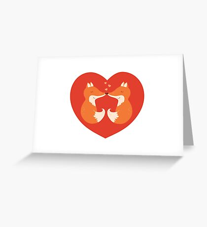 Lovers foxes. Greeting Card