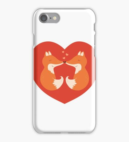 Lovers foxes. iPhone Case/Skin