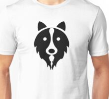 Solid Black Border Collie Unisex T-Shirt