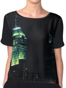 City in the Night Chiffon Top
